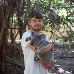 Dennis mit einem Koala