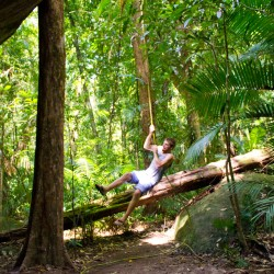 Dennis als Tarzan