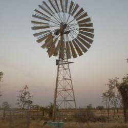Windmühle mitten im Nichts
