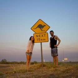 Erstes Känguru-Schild-Bild