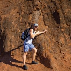 uhhh, Dennis fast den Uluru an