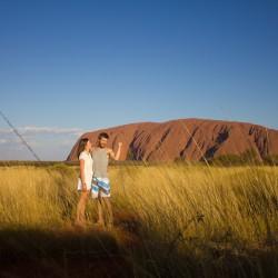 Wir beide mit dem Uluru/Ayers Rock