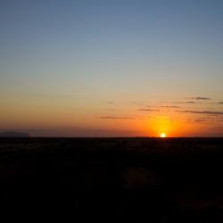 Uluru und Sonnenaufgang